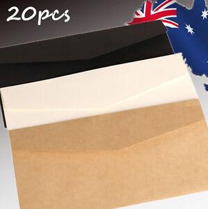 20pcs Vintage Brown Paper Gift Envelope Invitation Greeting