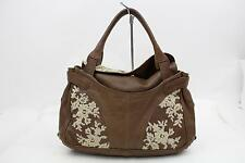 Authentic Valentino Hand Bag  Browns Leather 108411