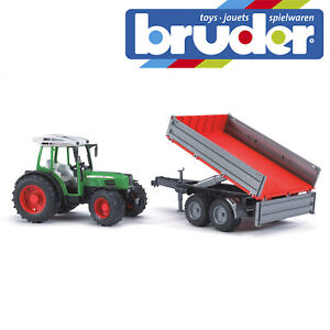 Bruder-Fendt-209-S-Tractor-amp-Tipping-Trailer-Kids-Farm-Toy-Farming-Model-1-16