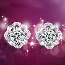 New Fashion Women Crystal Rhinestone Ear Stud Daisy Flower Earrings Jewelry