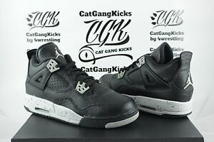 DS-Nike-Air-Jordan-4-IV-Retro-BG-GS-Oreo-Black-Grey-Youth-Boys-408452-003-Sz-6