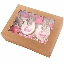 Tcoivs 30 Pack 8 X 6 X 25 Bakery Boxes With Window Small Cookie Boxes Aut