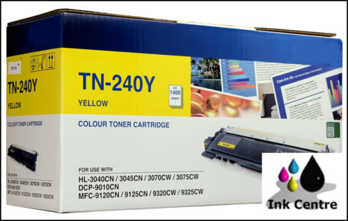 1 of 1 - Brother Genuine TN-240Y Yellow Toner Cartridge DCP9010CN HL3070CW HL3040CN MFC