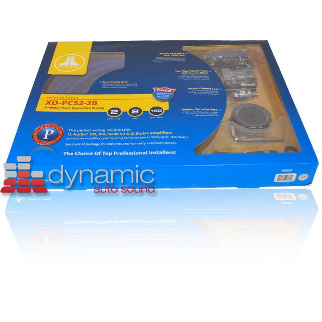jl audio xd pcs2 2b 2 gauge dual amp amplifier kit 100 pure copper rh ebay com