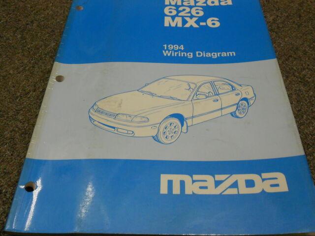 1988 Mazda 626 Sedan  U0026 Mx6 Coupe Electrical Wiring Diagram
