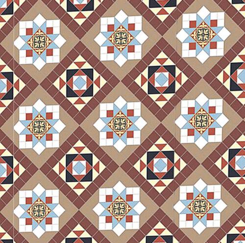 Casa De Muñecas Planta Panel Pisos Wallpaper Satin O Mate Tarjeta 1//12-1//24 # 36