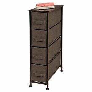 Image is loading mDesign-Fabric-Narrow-4-Drawer-Dresser-and-Storage-  sc 1 st  eBay & mDesign Fabric Narrow 4-Drawer Dresser and Storage Organizer Unit ...