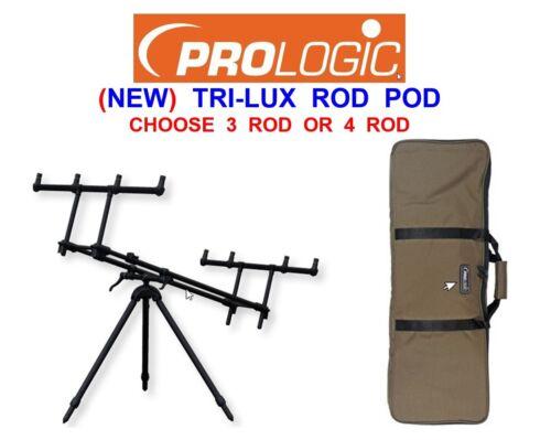 PROLOGIC 2021 TRI-LUX ROD POD FOR CARP ROD FISHING BIG PIT REELS 3 OR 4 ROD REST