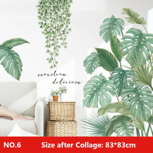 Tropical Foliage Leave Plant Wall Sticker Vinyl Decal Home Room Art Mural