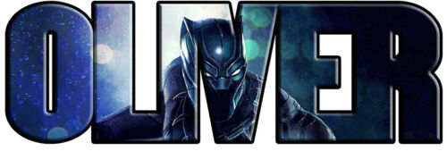 Black Panther Personalized Name Custom Decal Wall Sticker Marvel Avengers WP69