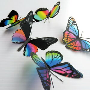 12-Pack-Butterflies-Rainbow-5-to-6-cm-Cakes-Weddings-Crafts-Cards