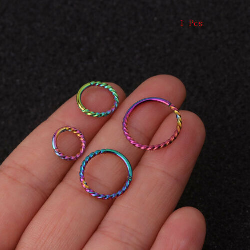 Stainless Steel Opening Clicker Ring Nose Ring Hoop Body Piercing Jewelry