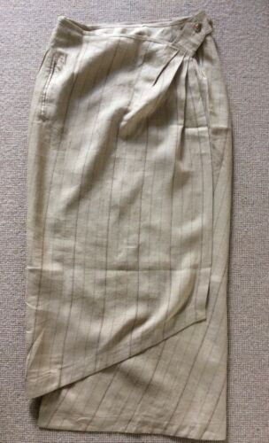 Skirt Size10 Nicole Linen vintage Beige Farhi Wrap xwrYZ0qIY