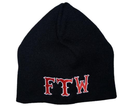 Hells Angels Support Strickmütze FTW bestickt Wintermütze Biker Red and White