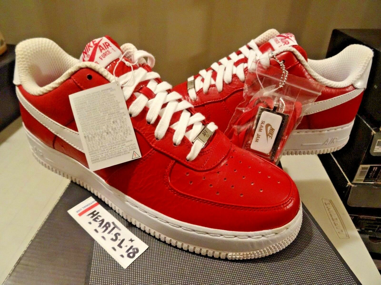 DS 2008 Nike Air Force 1 AF1 Low Supreme Slam Jam RED 318931-611 SZ 11 DUNK KAWS