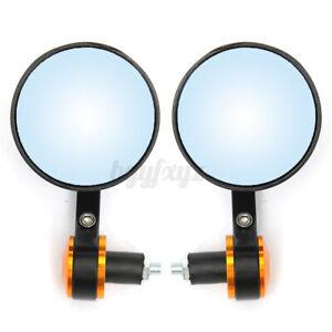 Colore A Specchietto laterale universale Motorike 7//8  22mm Specchio fine manubrio rotondo