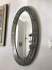 60er 70er Jahre Design Spiegel Metall Oval Wall Mirror Abstract Modern 60s