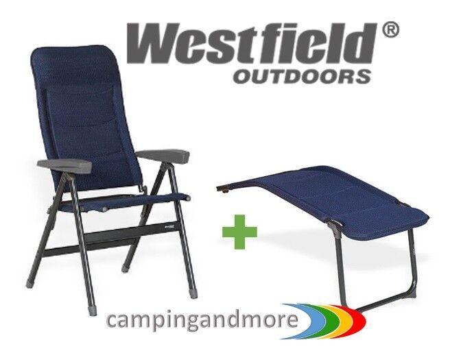 Westfield Campingstuhl Gartenstuhl Advancer mit Beinauflage DB Camping blau