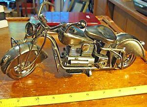 Harley Davidson Fatboy Indian Motorcycle Model Handcrafted Figurine Metal Steel Ebay