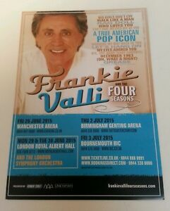 FRANKIE-VALI-2015-Tour-Flyer-5-12-034-X8-2-034-Collectible-Perfect-For-Framing-Rare