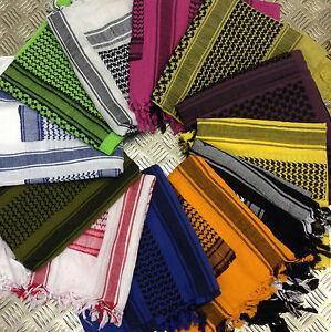 100-algodon-Shemagh-Bufanda-arabe-Pashmina-Envoltura-Sarong-todos-Los-Colores-Nuevo