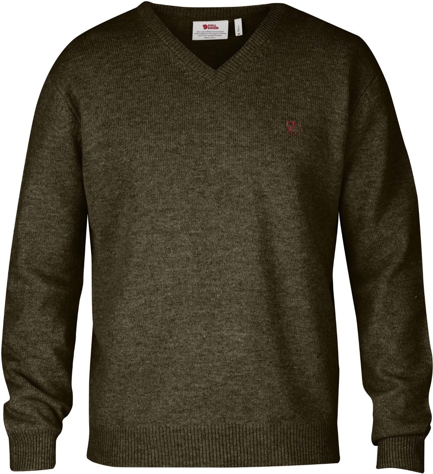 Fjällräven Shepparton Sweater 80092 Dark verde oliva señores V suéter jersey de punto