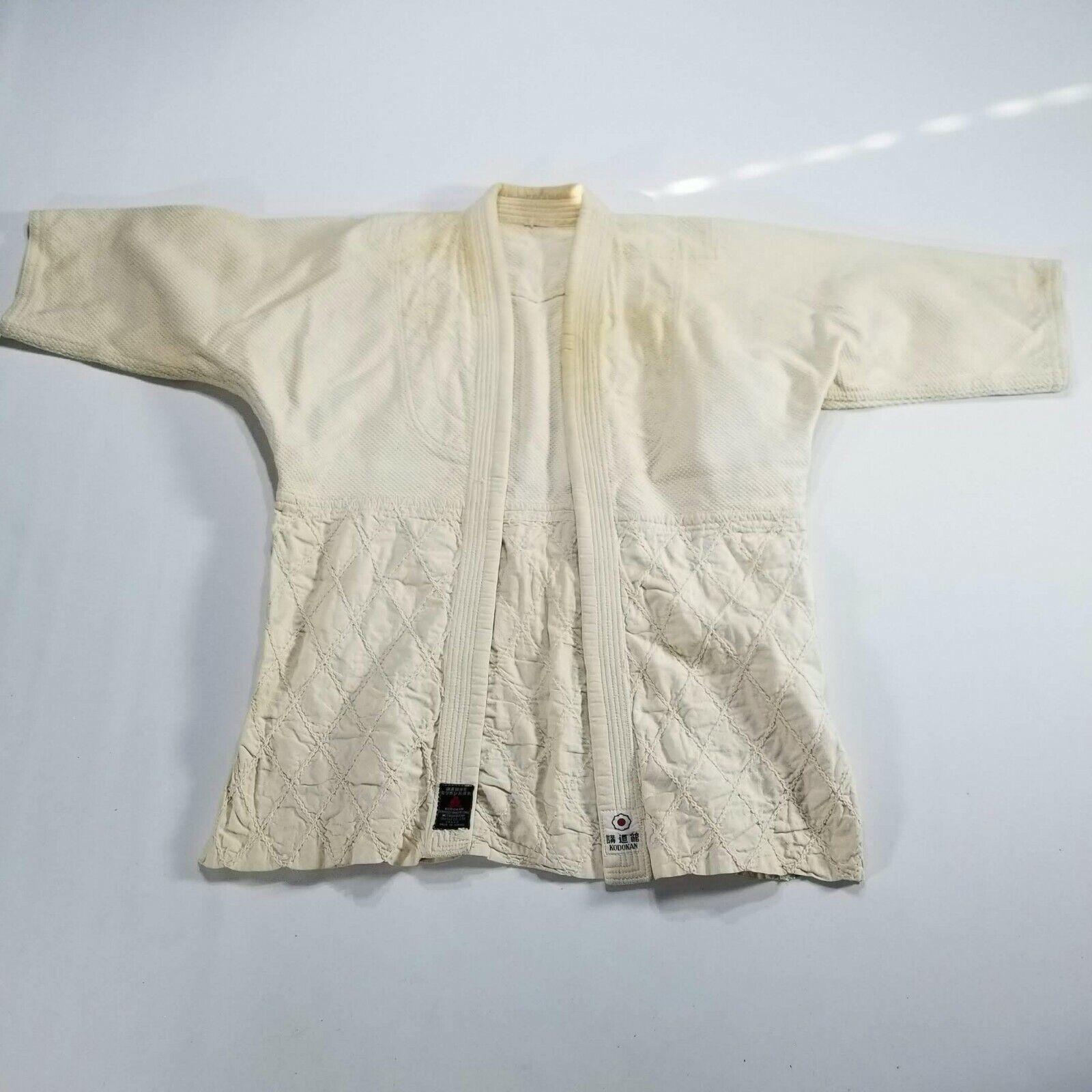 Mitsuboshi Brand Kodokan Vintage 1970s Judo Uniform Outfit Quilted Japan Rare