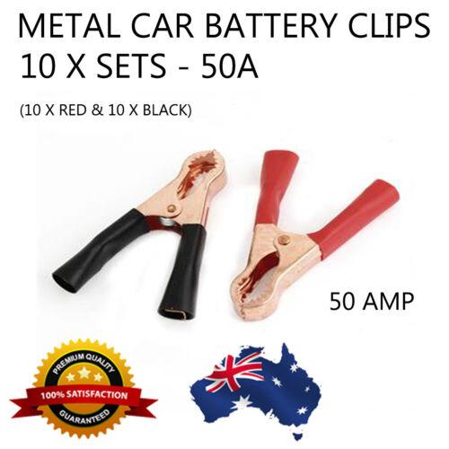 20 X Heavy Duty Crocodile Alligator Clip Metal Battery Test Terminal Clamp 50A