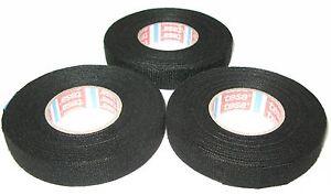 3x-TESA-kfz-Gewebeband-mit-Vlies-51608-15mm-x-15m-Klebeband-Textilband-MwSt-neu