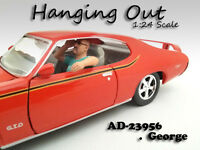 hanging Out George Figure For 1:24 Scale Models American Diorama 23956