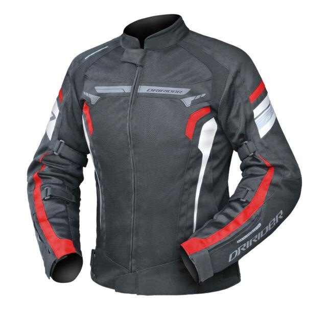 Mens DriRider Air Ride 4 Motorbike Jacket Summer Vented Mesh Black Red Honda