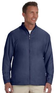 Ashworth-Men-039-s-Front-Pocket-Full-Zip-Lined-Polyester-Wind-Jacket-S-4XL-5378