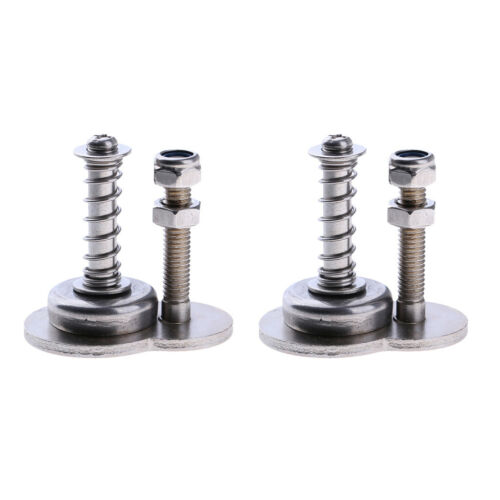 2pcs Stainless Steel Folding Bike Fixing Magnetic Buckle Anti-Loose Bolt Stopper