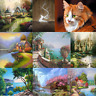 Countryside DIY 5D Diamond Embroidery Painting Cross Stitch Home Decor Crafts