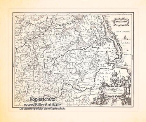 Circulus Westphalicus Sive Germaniae Interioris Kupferstich Merian 0239