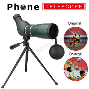 15-45X 60mm Zoom Angled Spotting Scope Monocular Birdwatching Telescope W/Tripod 6957443019813