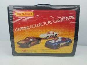 VINTAGE-MATCHBOX-1983-48-CAR-OFFICAL-COLLECTOR-039-S-CARRY-CASE-WITH-TRAYS