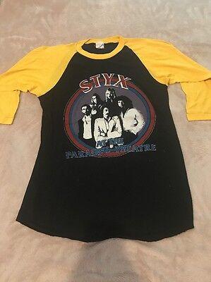 1990's Styx Originale Manica 3/4 T-shirt / Uomo Misura Medio / Buon Sapore