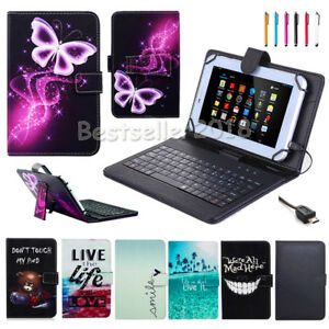 For-Lenovo-Tab-Tab2-Tab3-7-034-8-034-10-1-034-Tablet-PU-Leather-Case-Cover-with-Keyboard