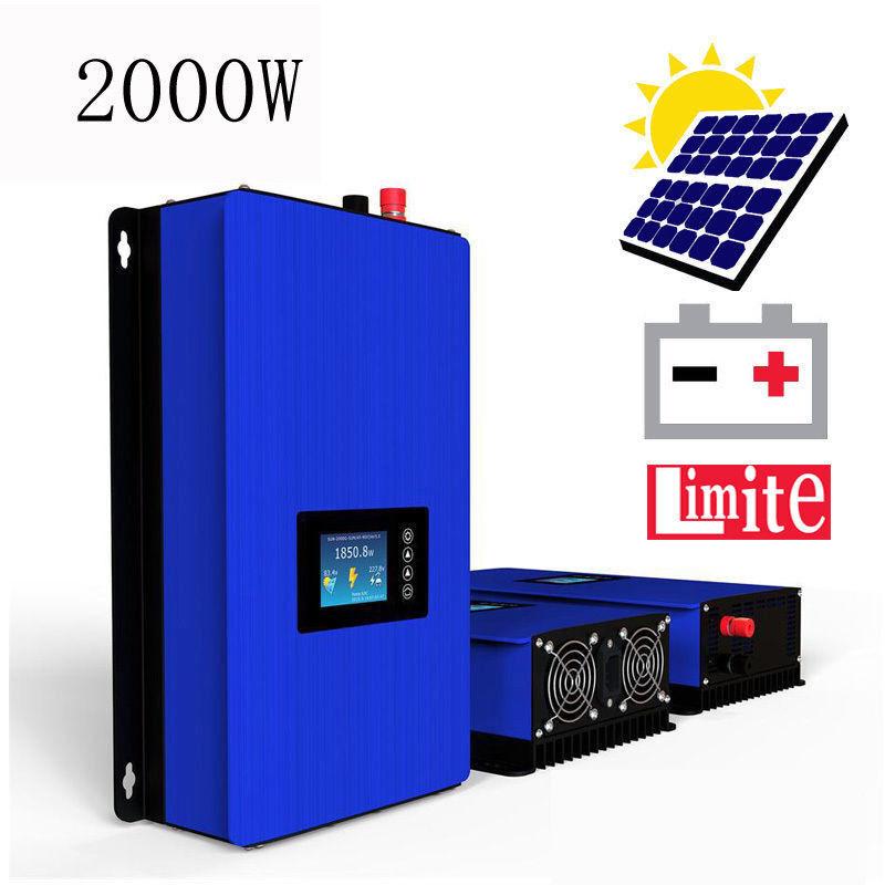 2000W MPPT Solar Grid Tie Inverter Pure Sine Wave DC45-90V for Solarpanel Kit