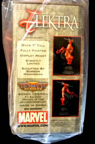 Elektra Bust Statue New 2006 Bowen Marvel Comics Daredevil Amricons