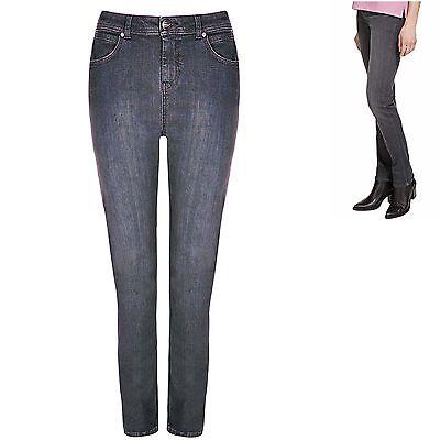 M&S Per Una 8 12 22 24 Perfect Sculpt Slim Leg Roma Jeans Added Stretch Grey New