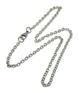 4mm wide hypoallergenic 304 stainless steel cable chain 16 18 20 22 inch lengths