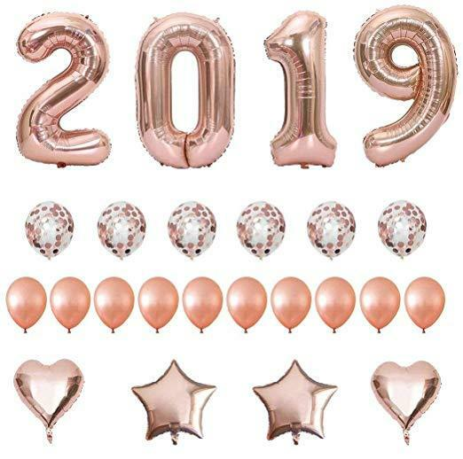 2019 Rose or Balloons 24pc Set Graduation Birthday Decor