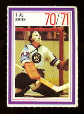 1970-71 ESSO POWER PLAYERS NHL #1 AL SMITH EXNM PITTSBURGH PENGUINS UNUSED STAMP