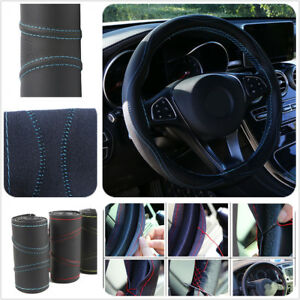 Luxury-Sporty-Auto-Car-Steering-Wheel-Cover-PU-Leather-Universal-38cm-Car-Cover