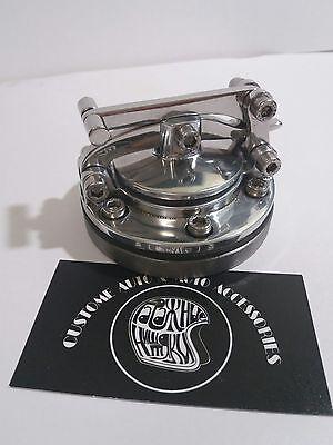 Cafe Racer Custom UK Gas tank caps cover Harley Chopper Bobber Oldschool