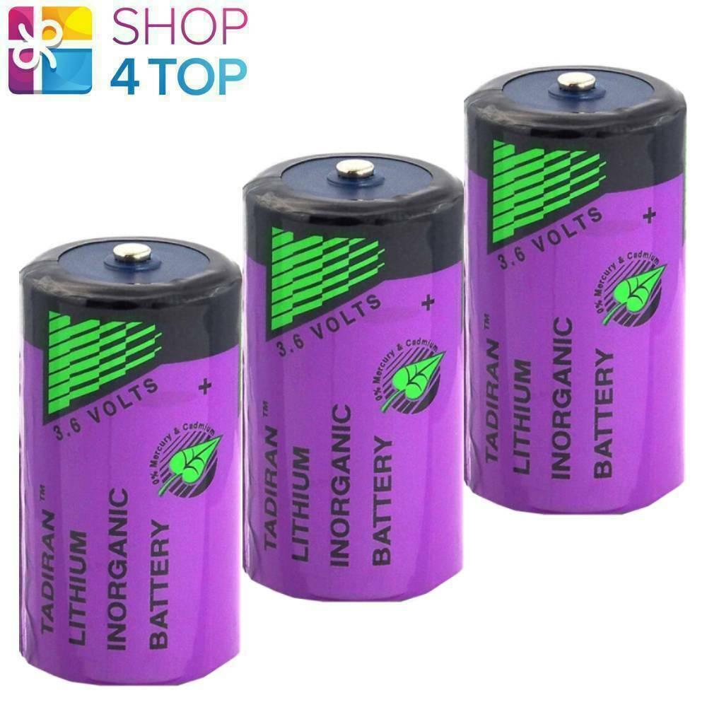 3 tadiran c r14 ls 26500 3.6v lisocl 2 lithium batteries er