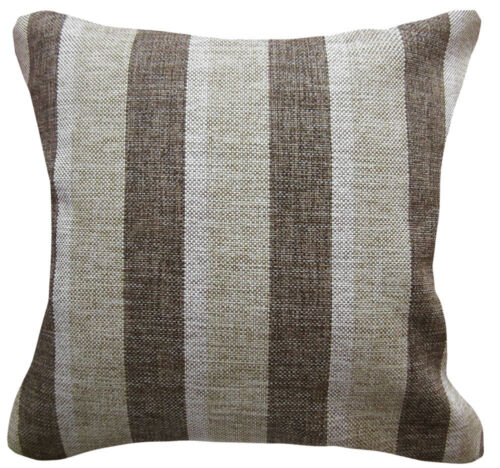 Qa-Perfect Match Checker Stripe Linen Cotton Blend Cushion Cover//Pillow Case