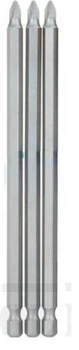 3 X NEW Extra long screwdriver bit.Flat 3mm,5mm,7mm pozi /& Philips size 1,2,3